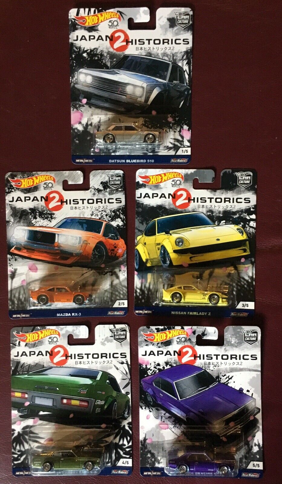 Hot Wheels Japanese Historics 2 Set VHTF Datsun blueebird Skyline Laurel Fairlady