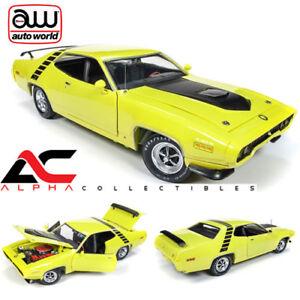 AUTOWORLD-AMM1158-1-18-1971-PLYMOUTH-ROAD-RUNNER-50TH-ANN-CURIOUS-YELLOW