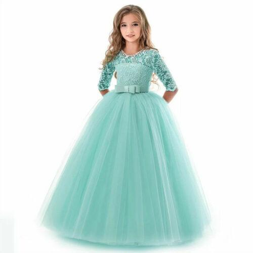 Flower Kid Dress Princess Party Wedding Bridesmaid Formal Gown Girl Long Dresses