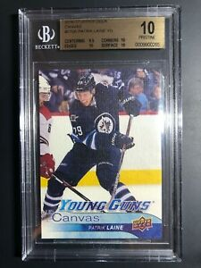 2016-17-Upper-Deck-Patrik-Laine-Young-Guns-Canvas-Rookie-BGS-10-Pristine