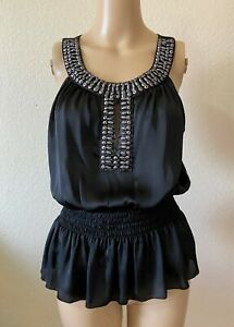 Bisou-Bisou-Black-Beaded-Top-Size-Medium