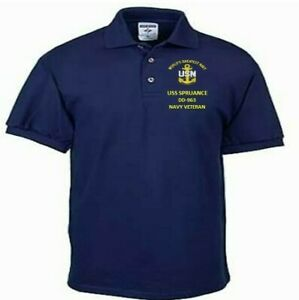 USS-SPRUANCE-DD-963-NAVY-ANCHOR-EMBROIDERED-LIGHT-WEIGHT-POLO-SHIRT