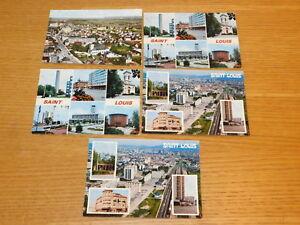 Détails Sur Lot 5 Cpa 68300 Saint Louis Rue De Mulhouse Monoprix Eglise Airport Carrefour 68