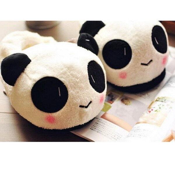 Women Ladies Soft Cute Panda Winter Warm Plush Antiskid Indoor Home Slippers JC