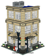 Lego Custom Corner Modular Building - Menswear Shop (Store) -INSTRUCTIONS ONLY!
