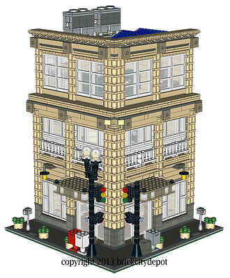 Lego Custom Corner Modular Building - Menswear Shop (Store) -INSTRUCTIONS ONLY!