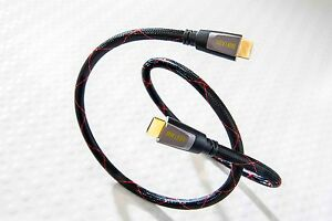 DH Labs HDMI version 2.0 1 meter HDMI cable supports 3D, 4K, Ethernet, 18Gbps