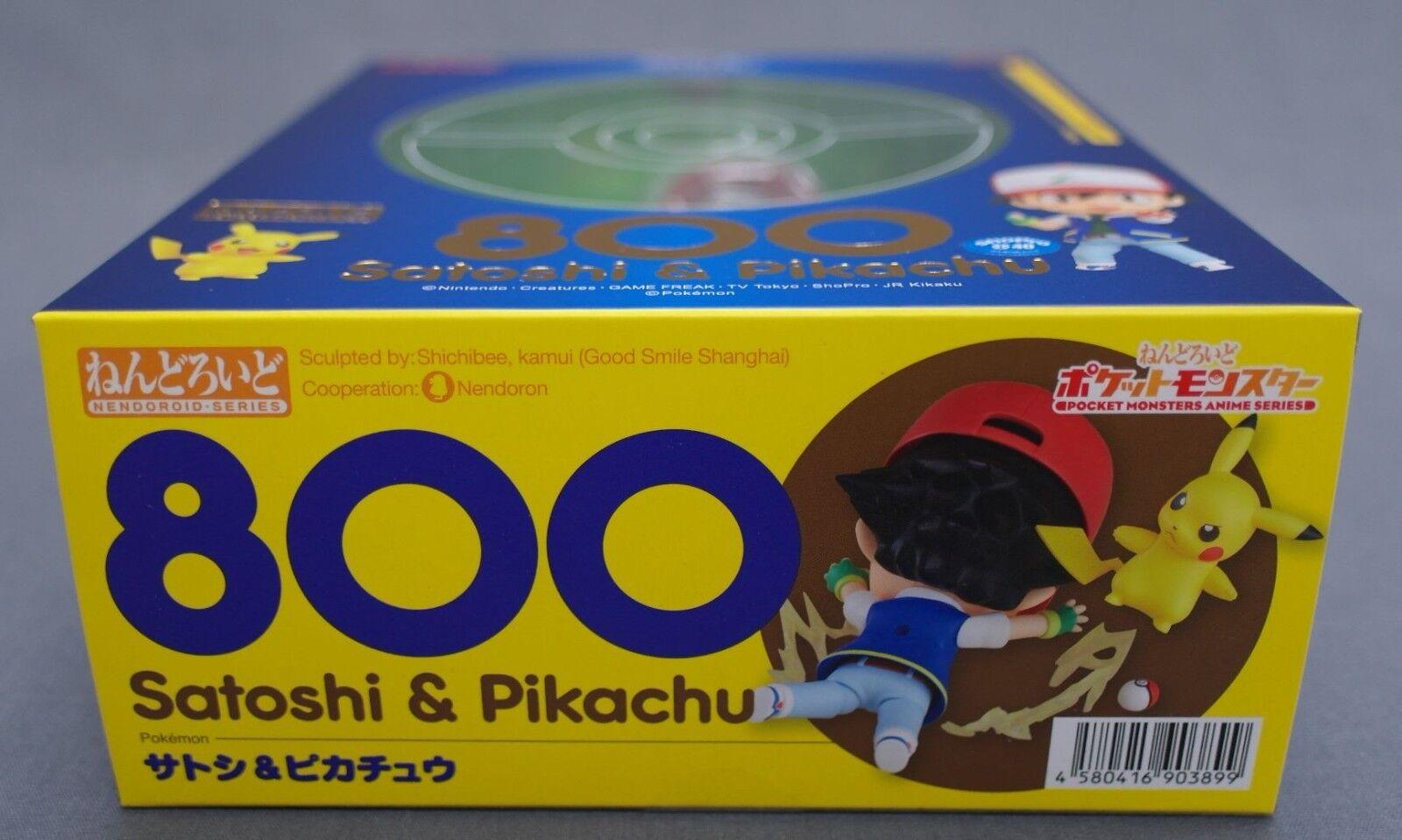 Nendgoldid Pokemon Satoshi Ash & Pikachu Good Good Good Smile Company Japan NEW  6cd8ee