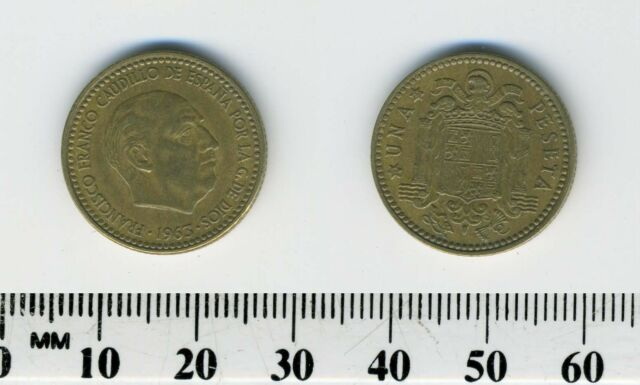 UNICIRCULATED COIN 1 PESETA FRANCO 1963-65 SPAIN