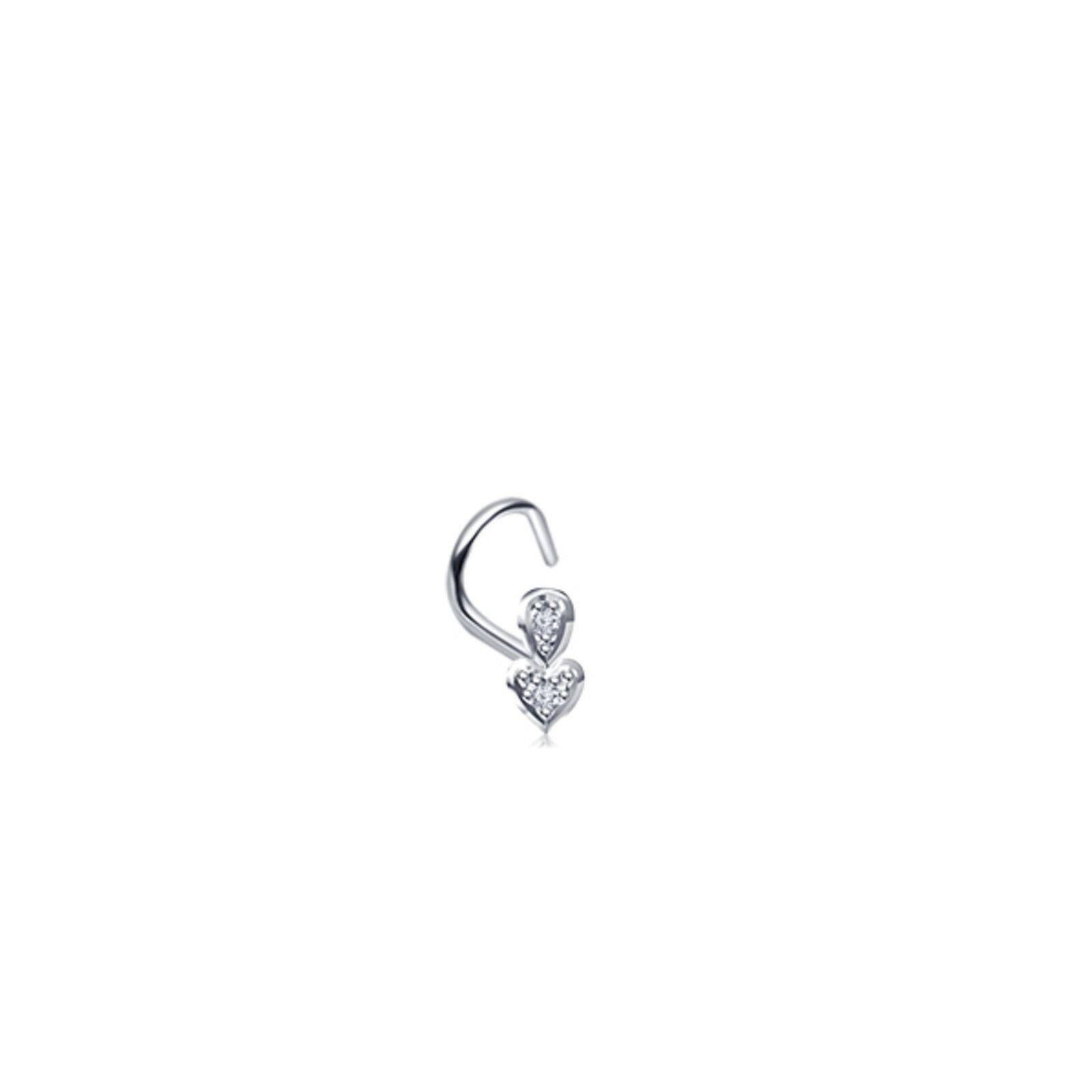 Black Titanium Bent L Shape Nose Ring Stud Hoop Daisys Flowers 18 gauge 18g