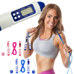 4 in 1 Skipping Rope Normal and Wireless Cordless Jumping Calorie Counter Timer