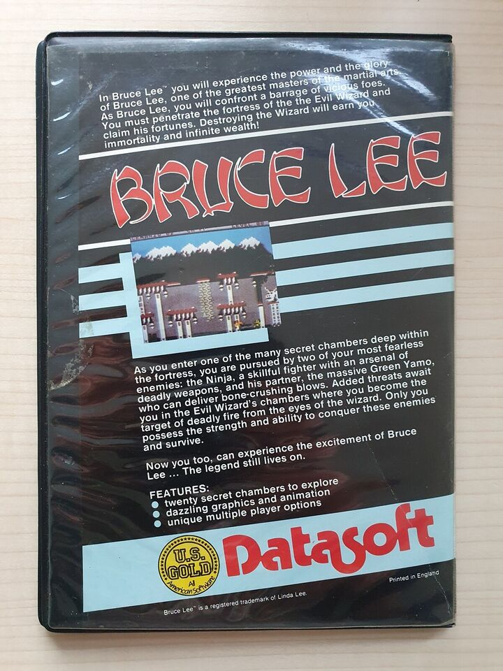 Bruce Lee [disk i Wallet] [Rare], Commodore 64
