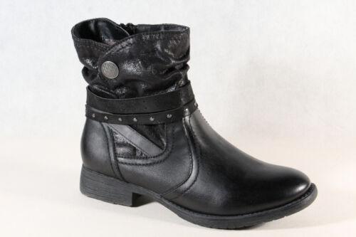 Jana Stiefel Winterstiefel Schnürstiefel Boots schwarz 25465 Weite H NEU