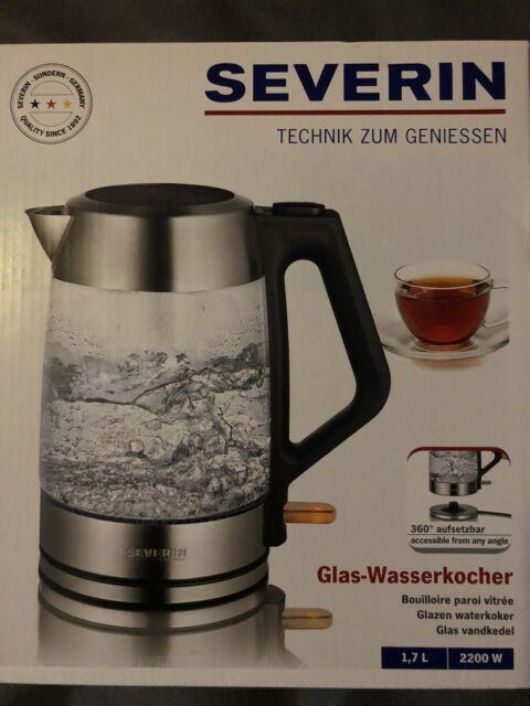 Severin Glas wasserkocher WK 3475 Edelstahl schwarz