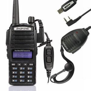 New-Baofeng-UV-82L-2m-70cm-Band-VHF-UHF-Ham-Two-way-Radio-Cable-Speaker-US