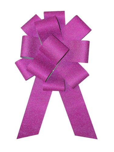 "25/"" Diamond Giant Big Hot Pink Ribbon Car Bow Magnetic Decoration Birthday Gift"