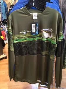 BIG-FISH-BASS-PANEL-FISHING-SHIRT-OLIVE-SIZE-MEDIUM