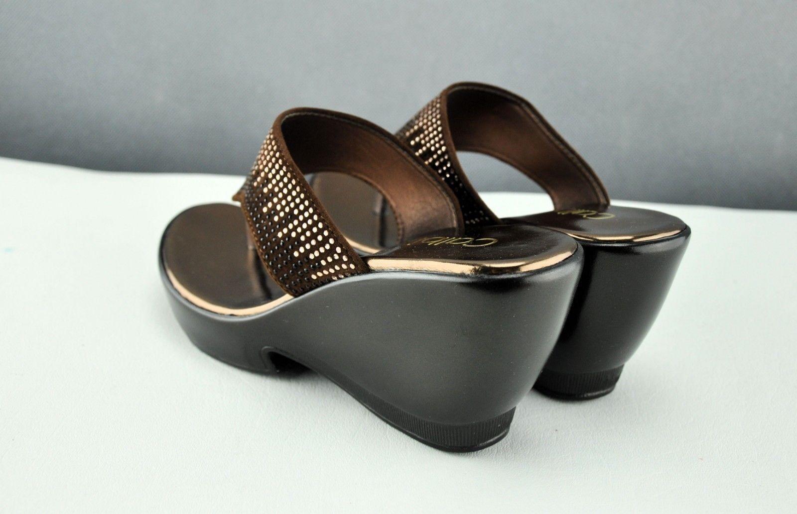 Brand New New New Bronze Calbi donna Sandal scarpe Heels Casual Comfort Flip Flop Dimensione 7 4d73c6