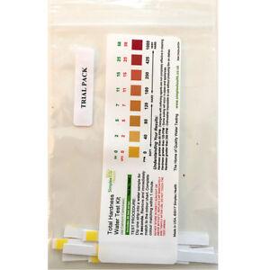Total Water Hardness Test Strips Kit x 10  Drinking Water Softner Testing Setup 5060438062204