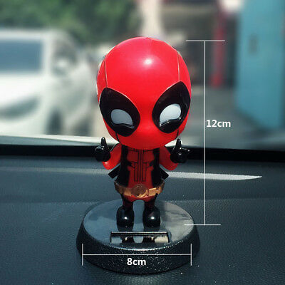 Car Accessory Decoration Iron Man/'s Deadpool Shaking The Head Dashboard Doll Nod