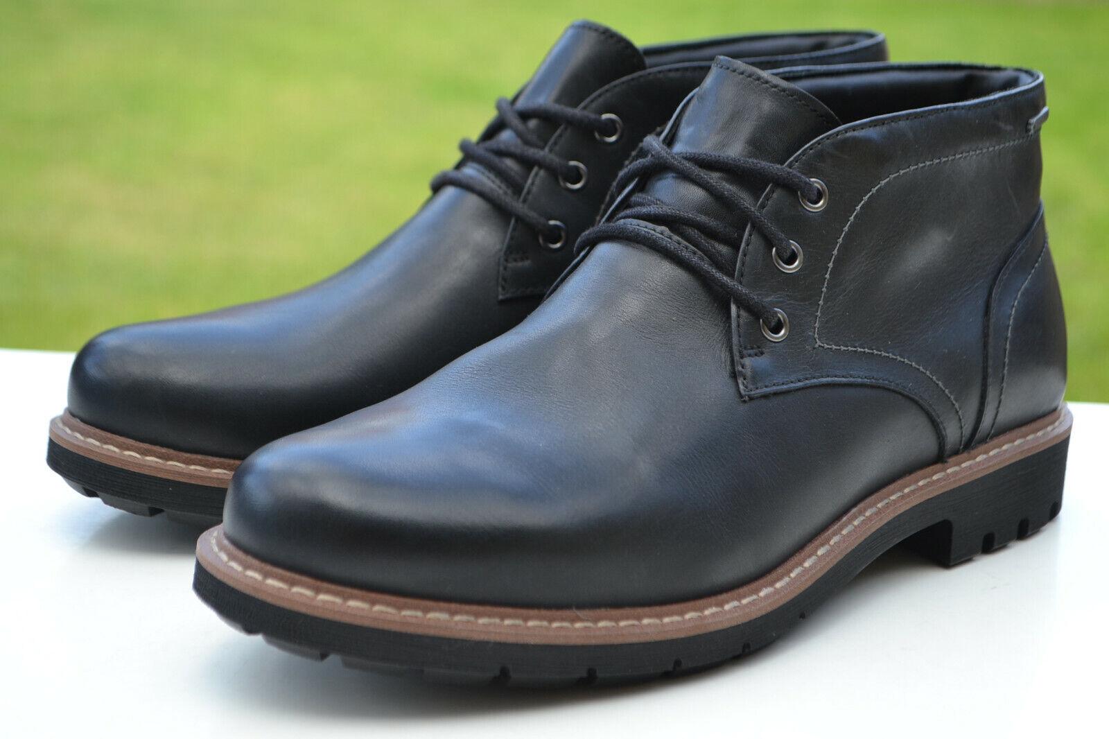 Clarks BNIB Mens Waterproof Chukka Boots BATCOMBE LO GTX Black Leath UK 11 / 46