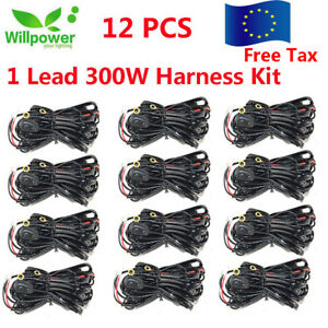 40A 14V Wiring Harness Kit ON OFF Switch Relay For 72W~300W LED Work Light Bar