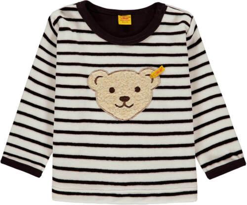 STEIFF Sweatshirt Hoodie Pullover Sweater Velour gestreift marine//weiß unisex 68