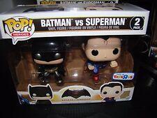 FUNKO POP TOYSRUS EXCLUSIVE BATMAN VS SUPERMAN METALLIC 2 PACK--NOT MINT BOX
