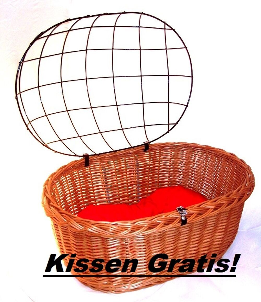 Dog Bicycle Basket XXL Dog  Basket Shopping Basket Front 58 cm with mesh and cushion  factory outlet store