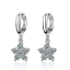 Women-Ladies-Elegant-925-Sterling-Silver-Zircon-Star-Flower-Dangle-Hoop-Earrings thumbnail 1