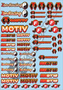 Decals Choice of Colours Ore Mardave Zen Racing Schumacher Atom HobbyWing