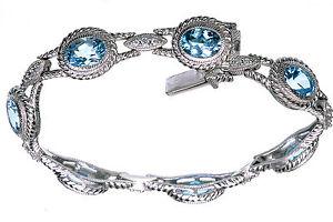 Judith-Ripka-Sterling-12-Ct-tw-Topaz-Diamonique-Bracelet-7-1-2-long