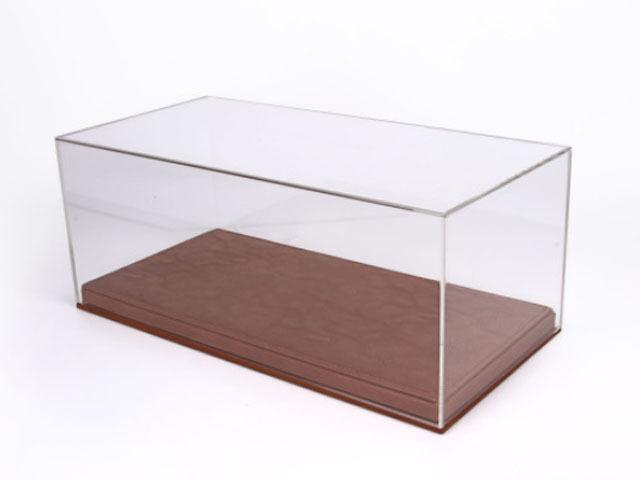 BBR Plexiglas Vitrine 1 18 brown   Display Case 1 18 Brown VET1804C1