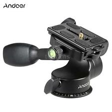 Video Tripod Fluid Ball Pan/Tilt Head Quick Release Plate for DSLR Camera K