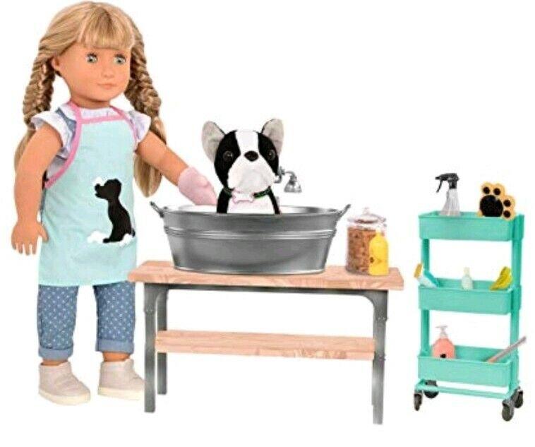 La nostra generazione Animale domestico Toelettatura Salon Set PUPPY  CROCCANTINI Grembiule Spazzola per Cane ect  fino al 60% di sconto