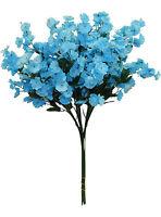 12 Baby's Breath Aqua Blue Gypsophila Silk Wedding Flowers Centerpieces