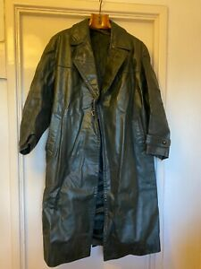 WWII-Genuine-Second-world-war-German-Nazi-officer-s-leather-trench-coat-XL-XX-M