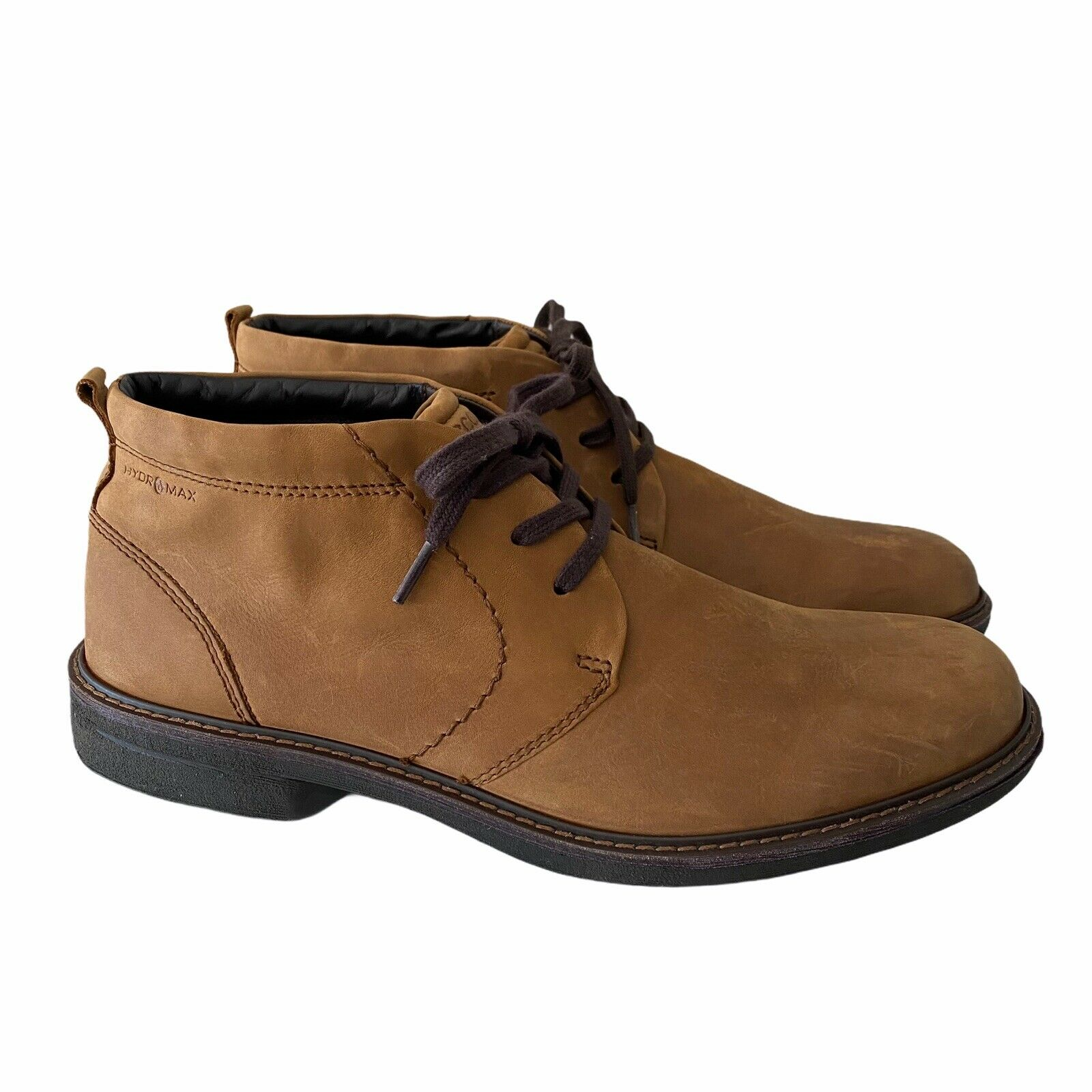 ECCO Turn Hydromax Water-Resistant Chukka Boots Nubuck Leather Mens Size 47 / 13