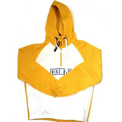 Nike Air Woven Anorak Pullover Jacket YellowWhite Men's Size Large BV5163 743   eBay