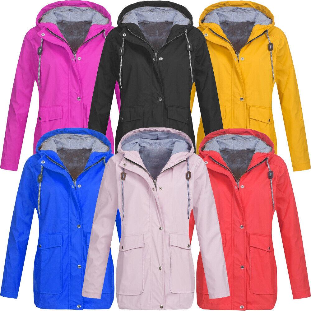 Womens Waterproof Raincoat Outdoor Hooded Hoodie Jacket Forest Wind Coat Outwear