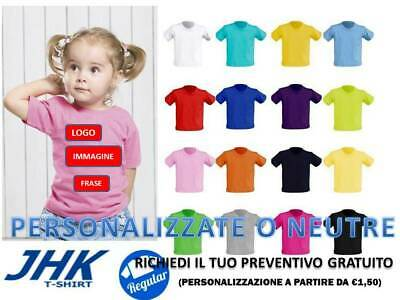 Bambini 2 - 16 Anni T-shirt E Maglie T-shirt Baby Neonato Manica Corta 100% Cotone Jhk Personalizzabile For Improving Blood Circulation
