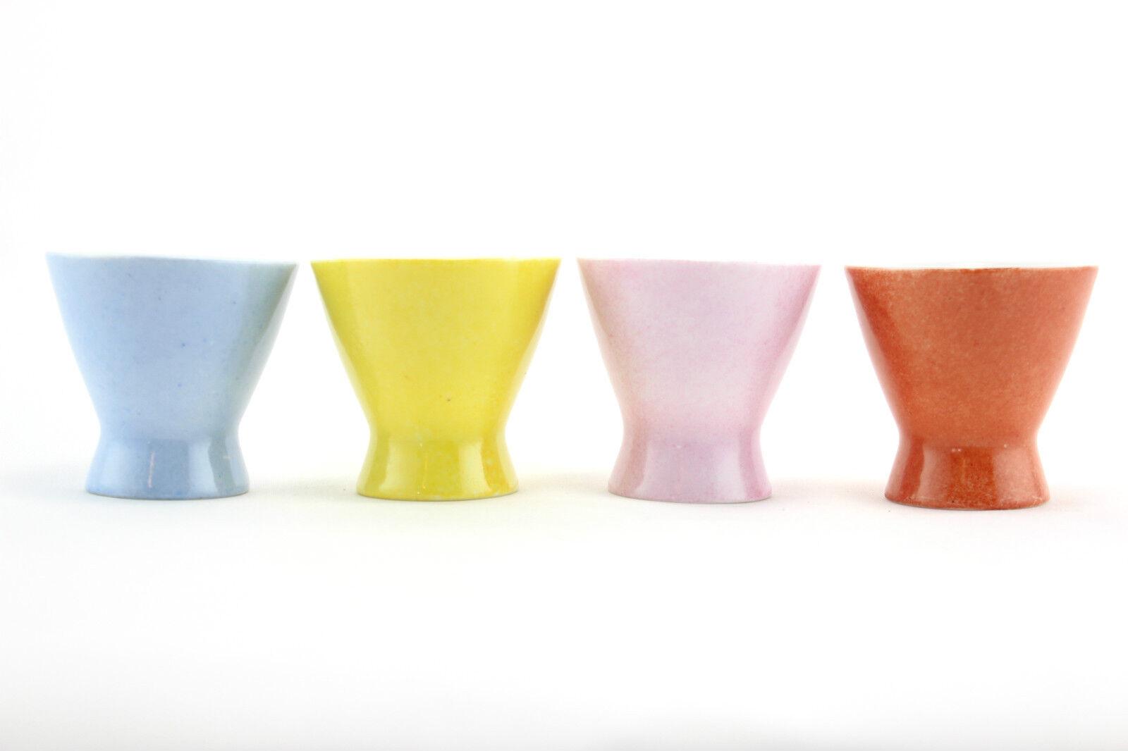 4 x multi-coloured pinknthal 'Form 2000' egg cups. German design. Modernist