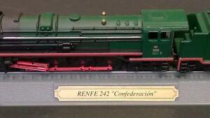 Locomotive-RENFE-242-039-Confederacion-039-Spain-N-schaal-Atlas-editions-or-Del-Prado