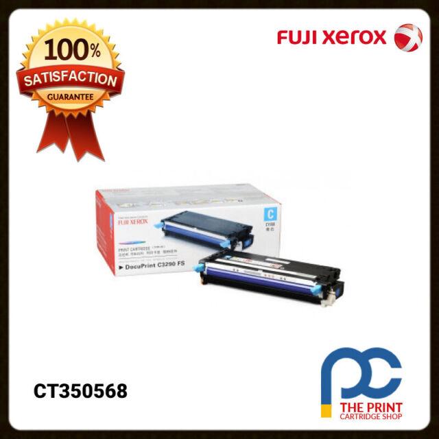 New & Original Fuji Xerox CT350568 Cyan Toner Cartridge DocuPrint C3290FS 6K