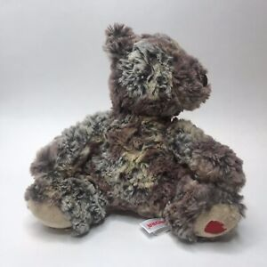 Aurora-Plush-Bear-Calico-Colors-Heart-Paw-Super-Soft-Excellent-Stuffed-Animal