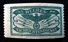 NAZI GERMANY WW2 HEERES NACHRICHTENDIENST ARMY INTELLIGENCE STAMP w/SWASTIKA