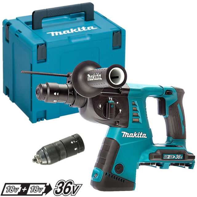 Makita DHR264ZJ 36V Li-ion SDS Plus Rotary Hammer Quick Change Chuck With Case