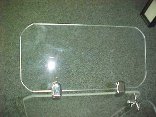 Deflectors for Drum Shield Panels Acrylic 24 x 12 with Chrome Connectors Drums