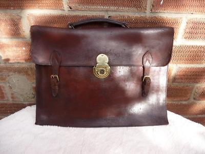 Qualità Vintage In Pelle Borsa A Tracolla Valigetta Portatile Borsa.-mostra Il Titolo Originale
