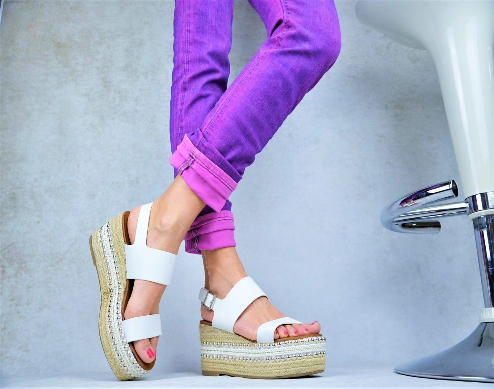 NUOVO Designer STAR GONNA LUSSO PAZZO Decolleté Scarpe da sandaletti borchie